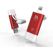 Adam Elements iKlips II flash disk USB 3.1/Lightning 64GB červený