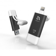 Adam Elements iKlips II flash disk USB 3.1/Lightning 64GB šedý